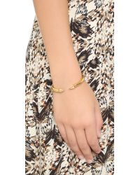 Vita Fede - Metallic Mini Titan Crystal Hexagon Bracelet - Gold/clear - Lyst