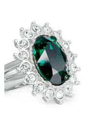 Kenneth Jay Lane - Green Emerald Crystal Ring - Lyst