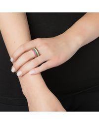 Emily & Ashley | Metallic Gold Pave Ring, Black Diamond | Lyst