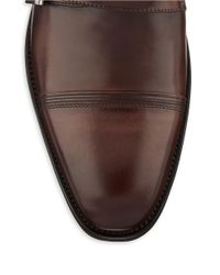 Kenneth Cole Reaction | Brown Sub-Let Leather Monk Strap Loafers for Men | Lyst