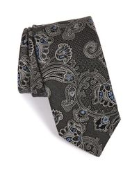 John W. Nordstrom - Black 'twisted Paisley' Silk Tie for Men - Lyst