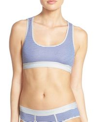 Honeydew Intimates - Blue 'charlie' Racerback Softcup Bra - Lyst