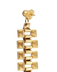Ela Stone | Metallic Pyramid Chain Spike Dangle Earrings | Lyst