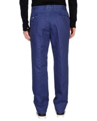 PT01 - Blue Casual Pants for Men - Lyst