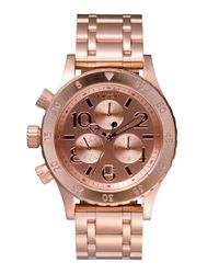 Nixon - Pink The 38-20 Chronograph Bracelet Watch - Lyst
