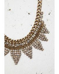 Forever 21 - Metallic Curb Chain Rhinestone Necklace - Lyst
