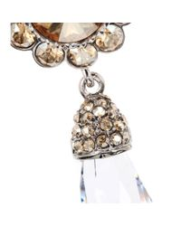Miu Miu - Metallic Crystal Clip-On Earrings - Lyst