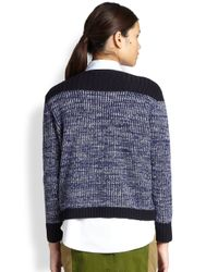 Marc By Marc Jacobs - Purple Julie Woolcashmere Sweater Skipper Blu Multi Xsmall - Lyst