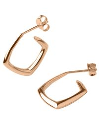 Dinny Hall | Pink Small Rose Gold-plated Cushion Hoops | Lyst