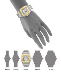 Cartier   Santos De GalbÉE Stainless Steel & 18K Yellow Gold Small Bracelet Watch   Lyst