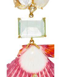Bounkit   Green Convertible Sea Shell Earrings   Lyst