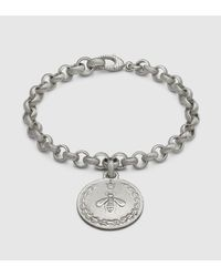 Gucci | Metallic Icon Bracelet With Bee Charm | Lyst