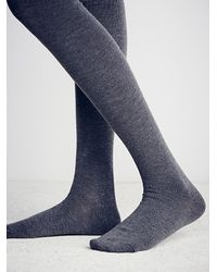 Free People - Gray Silver Lake Thigh High Sock - Lyst