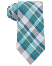 Calvin Klein | Blue Schoolboy Plaid Slim Tie for Men | Lyst