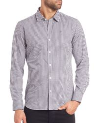 Victorinox | Blue Hagen Gingham Sportshirt for Men | Lyst