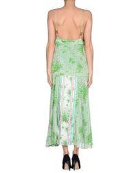 Class Roberto Cavalli - Green 3/4 Length Dress - Lyst