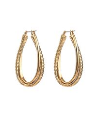 Diane von Furstenberg | Metallic Snake-chain Hoop Earrings | Lyst