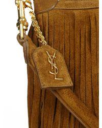 Saint Laurent - Brown Emmanuelle Small Suede Cross-body Bag - Lyst
