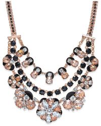 kate spade new york   Pink 12k Rose Gold-plated Triple Layer Floral Necklace   Lyst