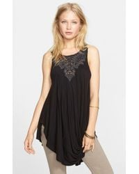 Free People | Black 'new World' Embellished Tunic | Lyst
