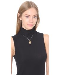 Vanessa Mooney | Metallic Through The Clouds Necklace - Gold Multi | Lyst