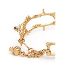 Alexander McQueen | Metallic Skull Vine Chain Bracelet | Lyst