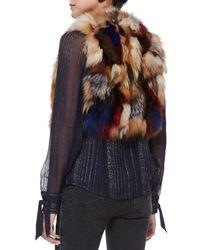 Zadig & Voltaire - Brown Fee Deluxe Patchwork Fur Vest - Lyst