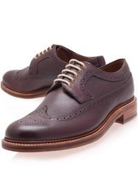 Foot The Coacher | Purple Men's Dylan Leather Brogues for Men | Lyst