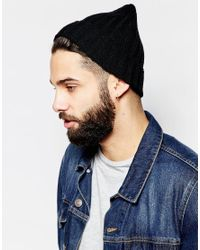 ASOS | Pointed Ribbed Beanie In Black for Men | Lyst