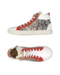 Roberto Cavalli - White High-tops & Trainers - Lyst