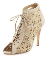 Manolo Blahnik - Natural Riana Suede Ankle Boots - Lyst