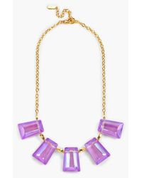 Dabby Reid | Purple 'kylie' Frontal Necklace - Violet | Lyst