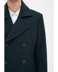 Forever 21 - Blue Wool-blend Peacoat You've Been Added To The Waitlist for Men - Lyst