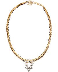 John & Pearl | Metallic Nova Pendant Necklace | Lyst