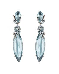 Alexis Bittar | Blue Large Marquis Quartz And Sapphire Cluster Aqua Drop Earring You Might Also Like | Lyst