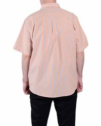 Double Two - Orange Stripe Classic Fit Classic Collar Shirt for Men - Lyst