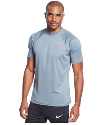 Nike - Blue Solid Performance Swim T-Shirt for Men - Lyst