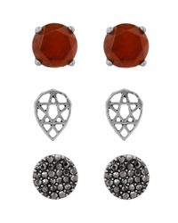 Lucky Brand - Metallic Ruby Stud Earrings Set - Lyst
