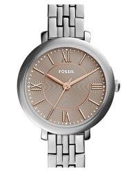 Fossil - Metallic 'jacqueline' Round Bracelet Watch - Lyst