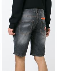 Philipp Plein | Black 'goose' Denim Shorts for Men | Lyst