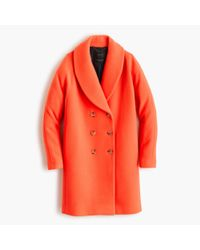J.Crew | Orange The Shawl-collar Coat In Stadium-cloth | Lyst