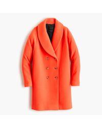 J.Crew | Orange The Shawl-collar Coat In Stadium-cloth | Lyst