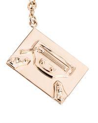 Balenciaga - Metallic Classic City Bag Key Ring - Lyst