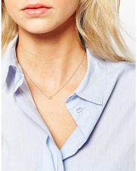 Dogeared | Metallic Gold Plated The Circle Necklace | Lyst