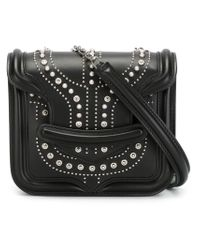 Alexander McQueen - Black Heroine Mini Chain Leather Satchel - Lyst
