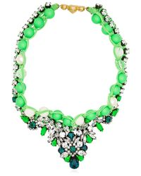 Shourouk - Theresa Green Necklace - Lyst