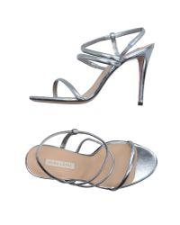 Pura López - Metallic Sandals - Lyst