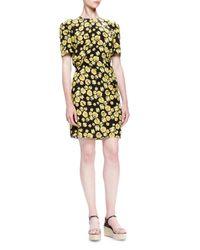 Lanvin - Multicolor Pansy-printed Silk Dress - Lyst