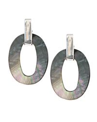 Anne Klein | Metallic Mother Of Pearl Clip Earrings | Lyst