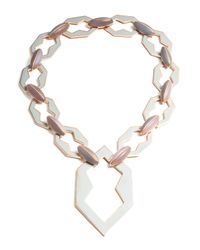 Eddie Borgo - Metallic Peaked Rose Gold Plated Link Necklace - Lyst
